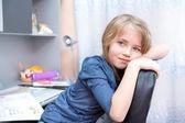 Leren schoolmeisje — Foto de Stock