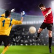 Soccer game — Stockfoto