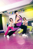 Aerobics girls — Stockfoto