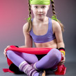 Little Fitness Girl - Stock Photo