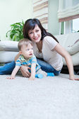 Woman with a toddler — Stock Photo