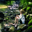 Fishing boy - Stock Photo