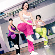 Stock Photo: Aerobics girls