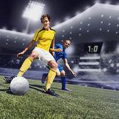 Juego de fútbol — Foto de Stock