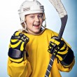 Hockey girl — Stock Photo