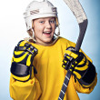 Hockey girl - Stock Photo