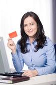 Cartão de banco — Fotografia Stock