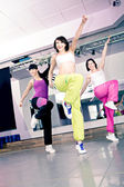 Meninas de aeróbica — Foto Stock