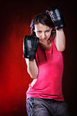 Tae Bo Girl — Stock Photo