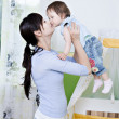 Woman with a toddler - Stockfoto