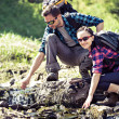 Hiking couple - Stock Photo