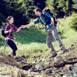 Hiking couple — Stock Photo