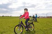 Cyklistické rodina — Stock fotografie
