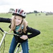 Cycling girl — Stock Photo #25575849