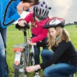 Cycling family — Stock Photo #25576791