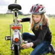 Cycling girl — Stock Photo #25578205