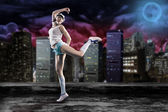 Dancing girl — Stock Photo