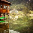 Lago di Dobiacco — Stock Photo