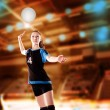 volleyball girl — Stock Photo