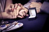Engagement ring — Stock Photo