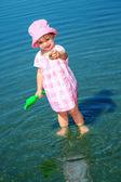 Hraje dívka — Stock fotografie