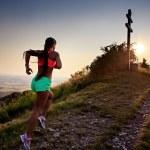Running to the peak — Stock Photo #28481707