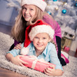 Xmas girls — Stock Photo