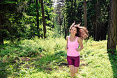 Jogging woman — Stockfoto