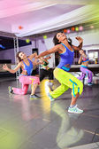 Aerobics girls — Stock Photo