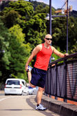 Jogging in the city — Stock Photo