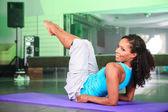 Yoga girl — Stock Photo