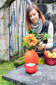 Lavorando in giardino — Foto Stock