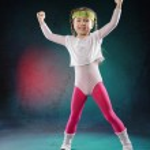 Little Fitness Girl — Stock Photo