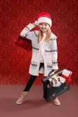 Chica de navidad — Foto de Stock