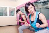 Gym kamer meisje — Stockfoto