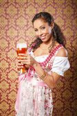Dirndl girl — Stock Photo
