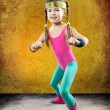 Stock Photo: Little Fitness Girl
