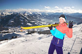 Alpin girl — Stock Photo