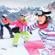 Stock Photo: Alpin girls