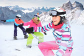 Alpin girls — Stock Photo