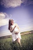 Schwangere frau — Stockfoto