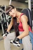 Gym room girl — Stock Photo