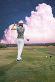 Playing golf — Foto de Stock