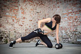 Gym flicka — Stockfoto