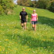 Nordic walking man and woman — Stock Photo #47991341