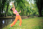 Woman fitness dance — Foto Stock