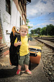 Waiting for the train — Stock Photo