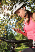 Cycling woman — Stock Photo