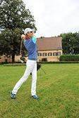 Playing golf — Stock Photo