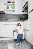 En la cocina — Foto de Stock